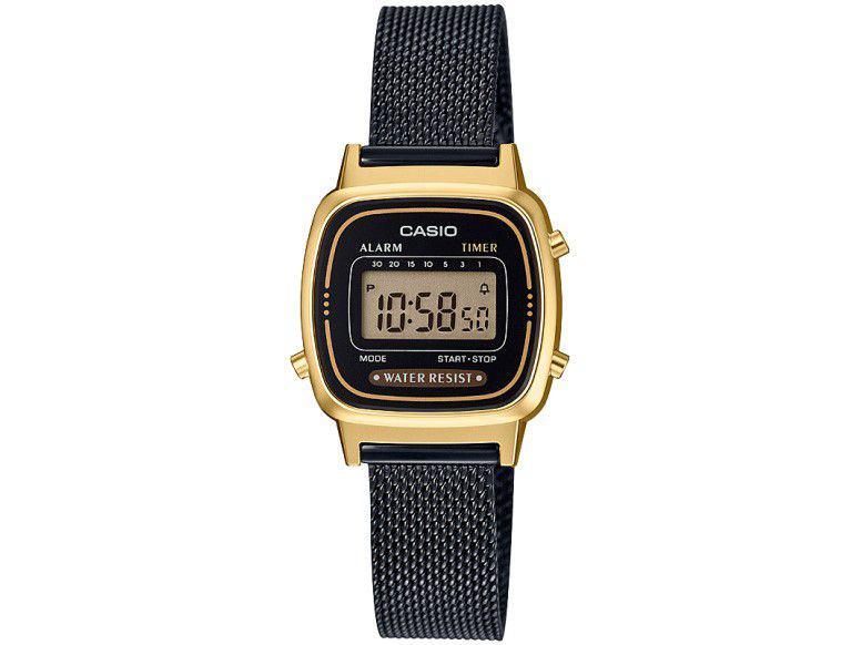 Relógio Feminino Casio Digital Vintage - LA670WEMB-1DF Preto