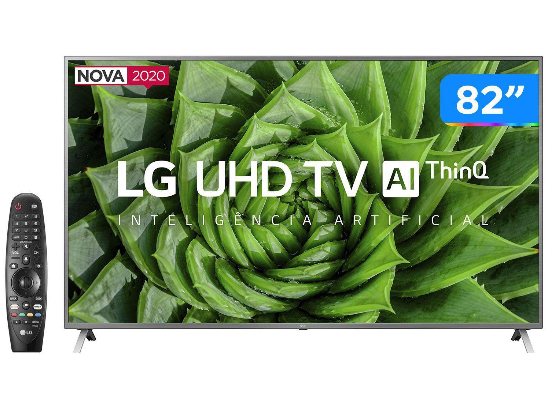 "Smart TV UHD 4K LED 82"" LG 82UN8000PSB Wi-Fi - Bluetooth HDR Inteligência Artificial 4 HDMI 3 USB"