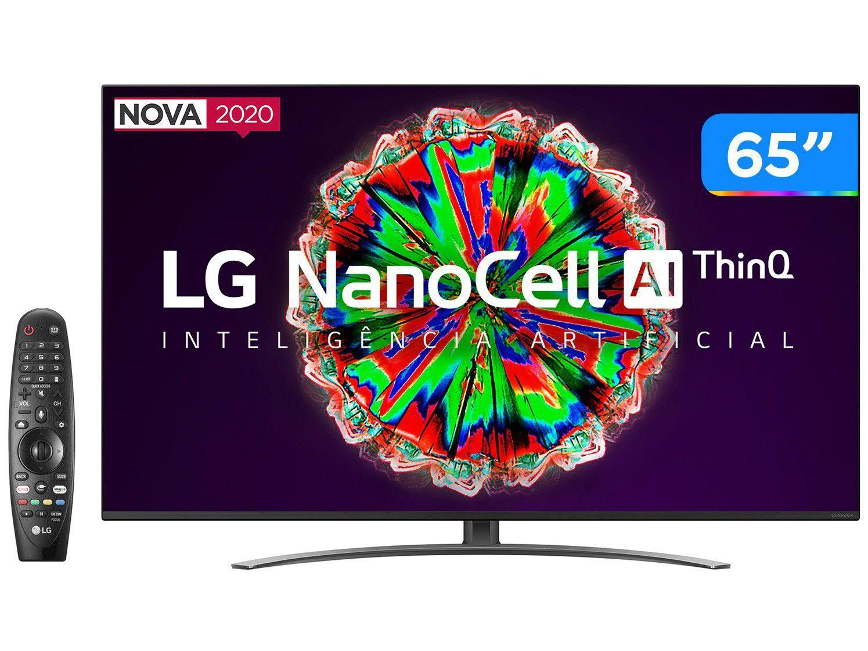 "Smart TV 4K NanoCell IPS 65"" LG 65NANO81SNA - Wi-Fi Bluetooth HDR Inteligência Artificial 4 HDMI"