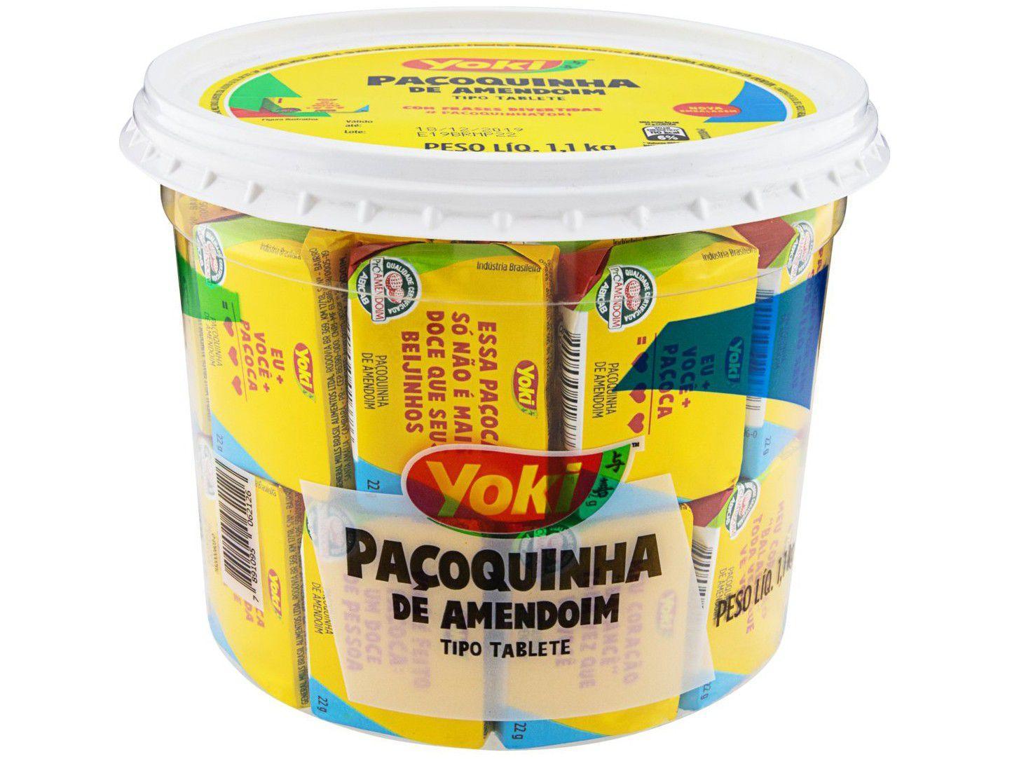 Paçoca Tablete Original Yoki - 1,1kg