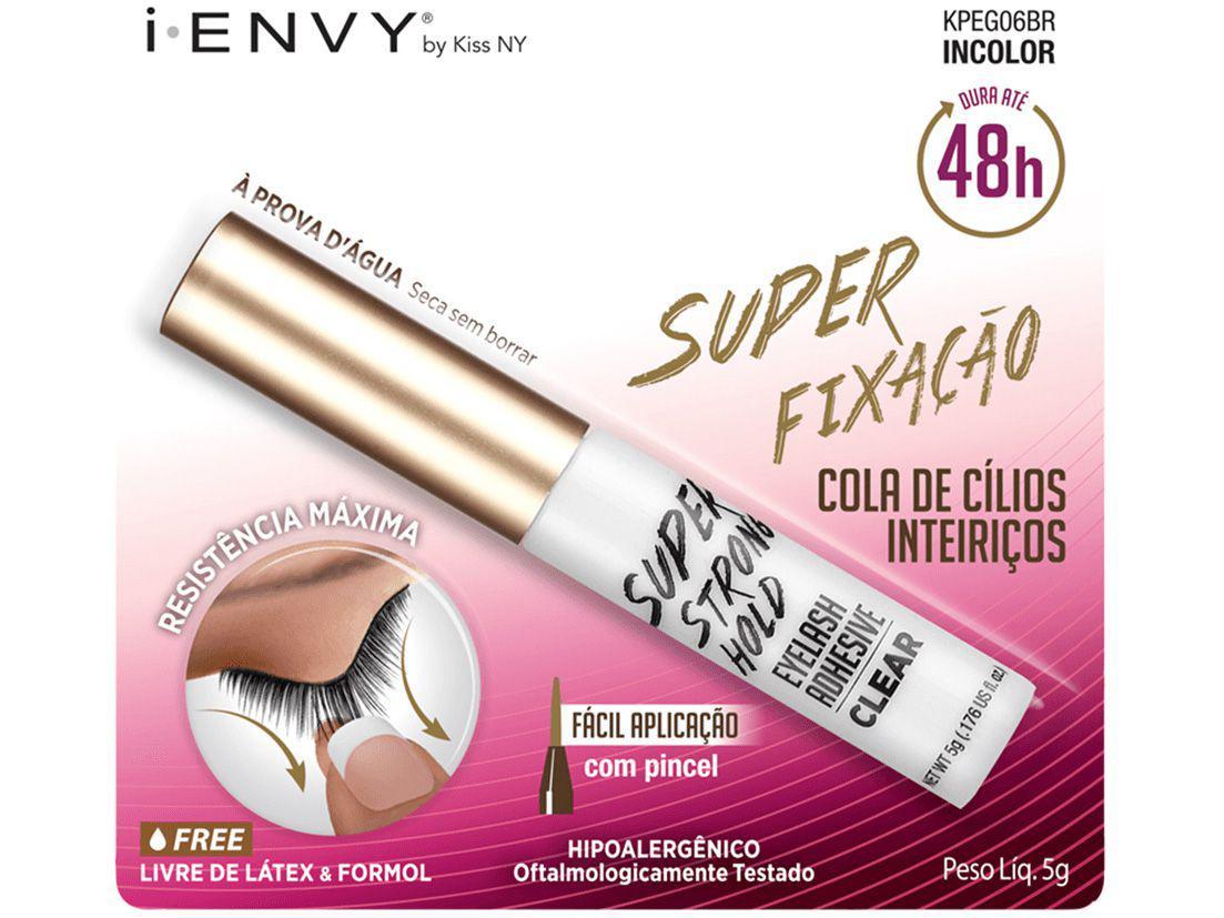 Cola para Cílios I-Envy by Kiss NY Super Fixação - 48H com Pincel 5g