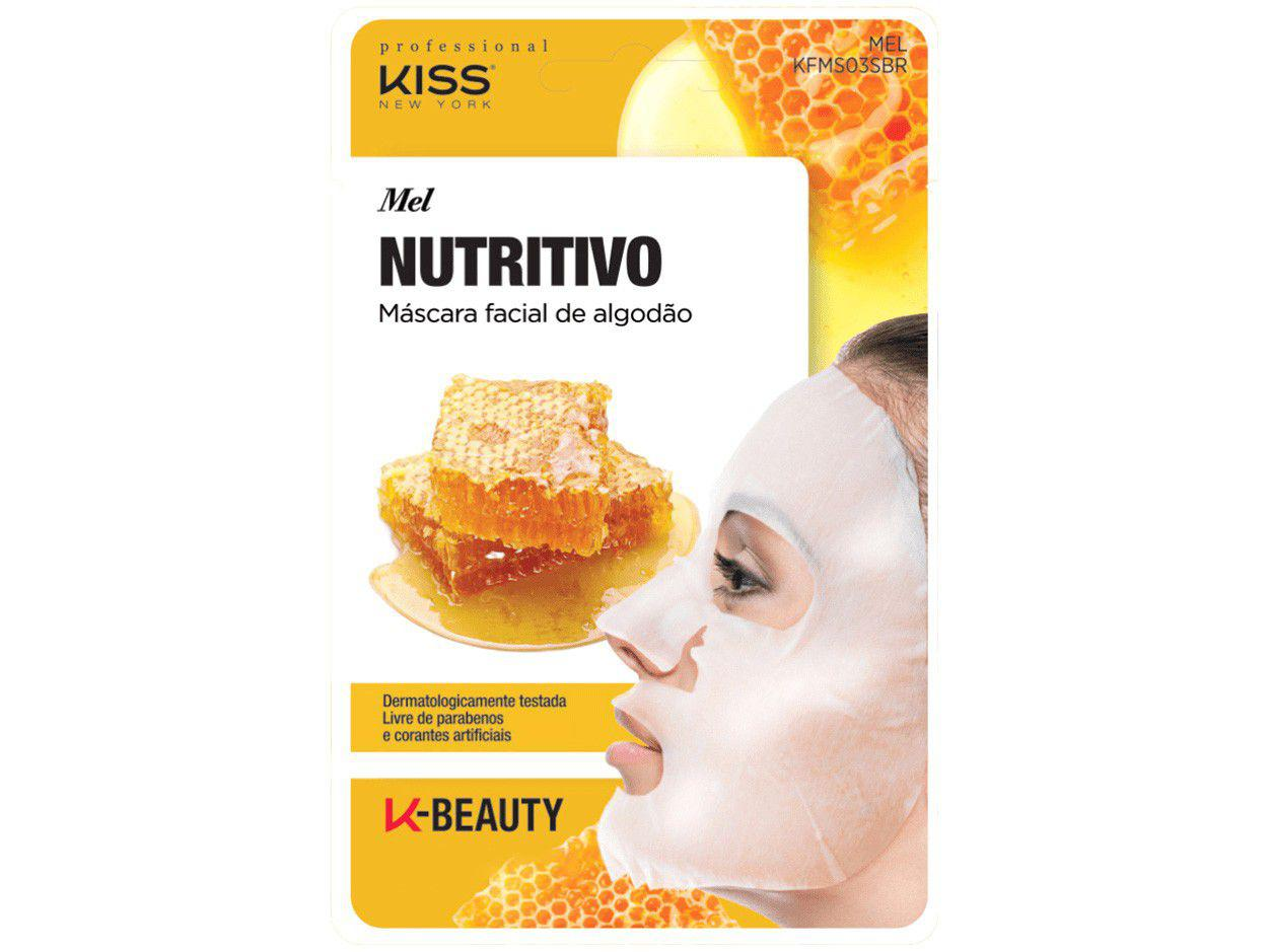 Máscara Facial Kiss New York Professional - K-Beauty Mel Nutritivo 20ml
