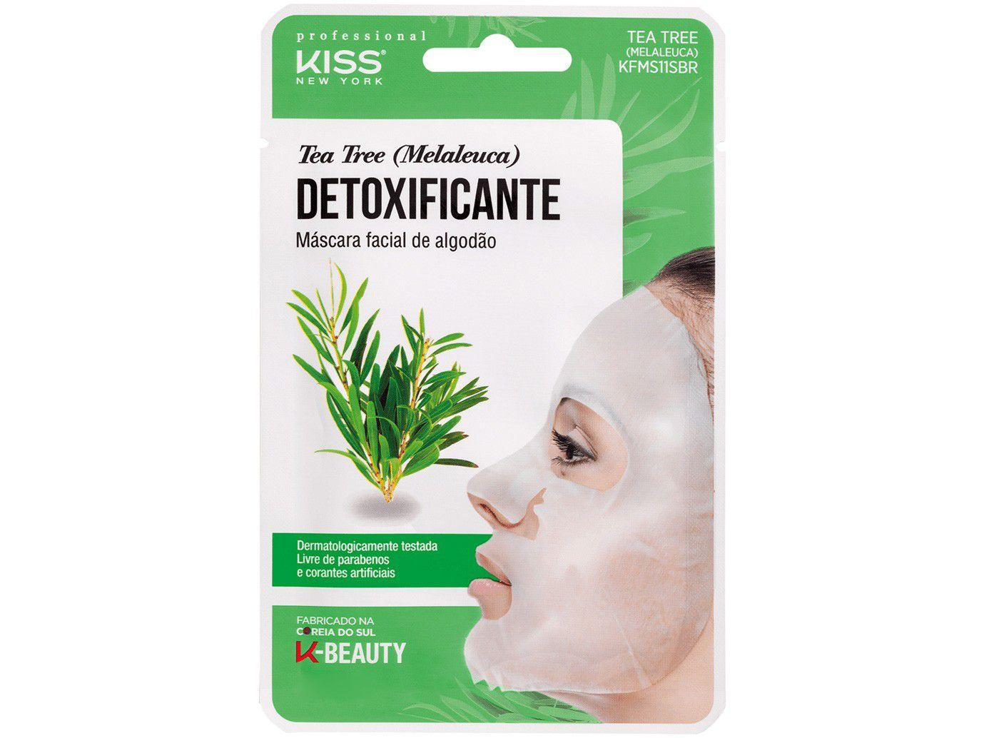 Máscara Facial Kiss New York Professional - K-Beauty Tea Tree Detoxificante 20ml