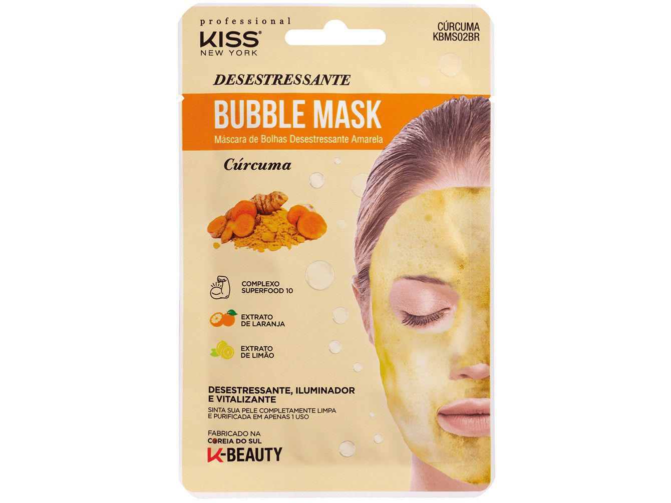 Máscara Facial Kiss New York Professional - Cúrcuma Bubble Mask 20ml