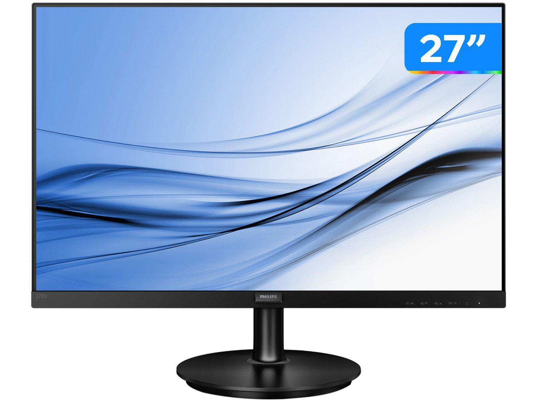 """Monitor para PC Philips 272V8A 27"""" LED IPS - Widescreen Full HD HDMI VGA"""