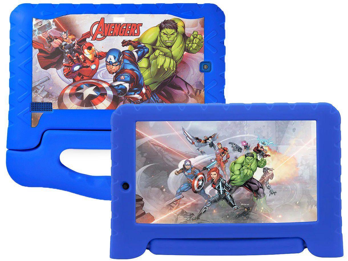 "Tablet Infantil Multilaser Vingadores Plus - com Capa 7"" Wi-Fi 16GB Android 8.1 Quad-Core"