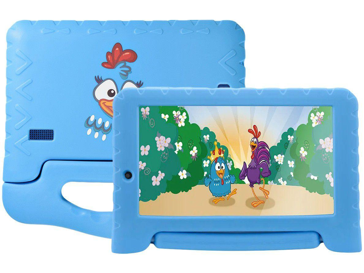 "Tablet Infantil Multilaser NB311Galinha Pintadinha - com Capa 7"" Wi-Fi 16GB Android 8.1 Quad-Core"