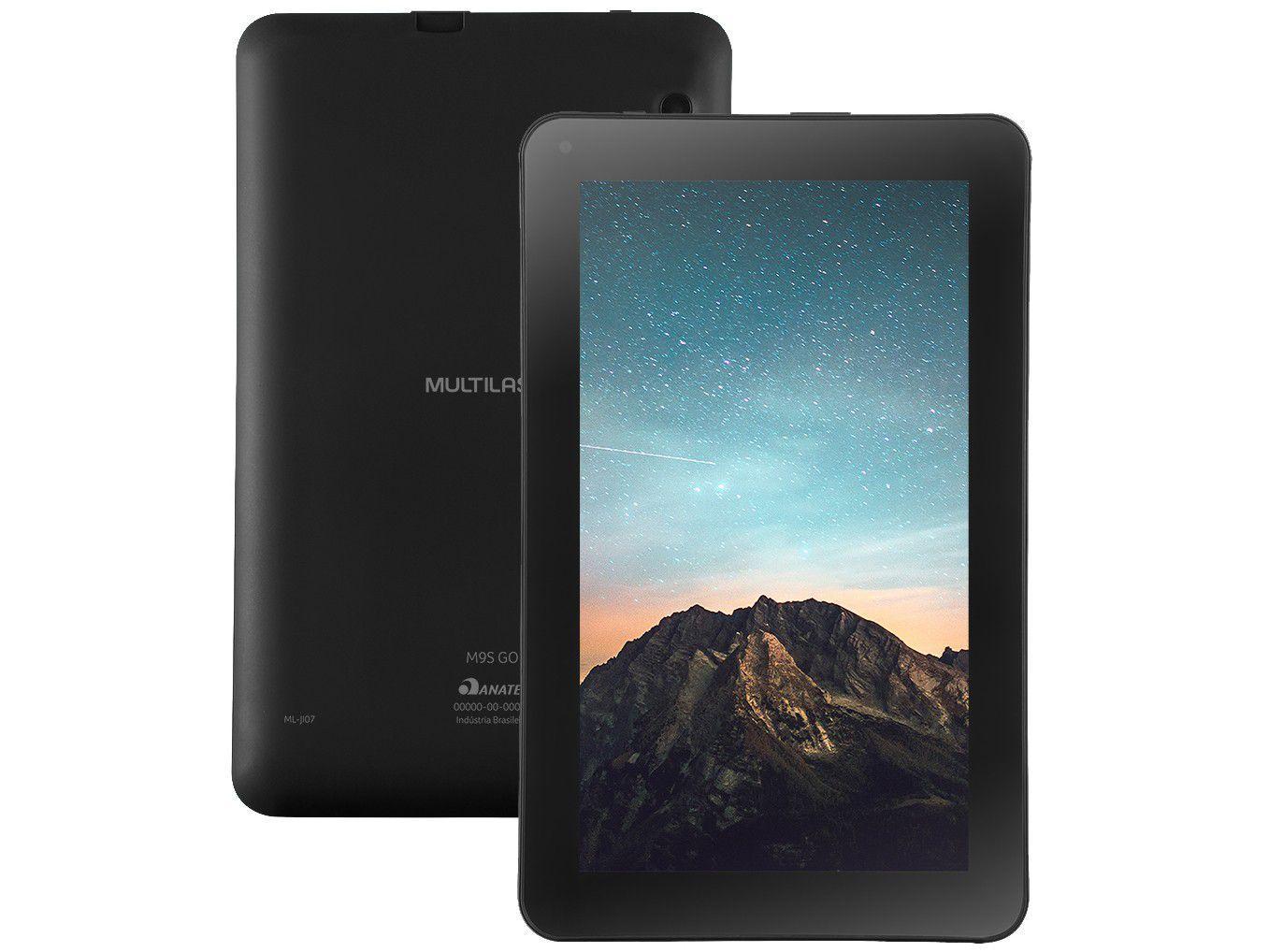 "Tablet Multilaser M9S GO 9"" Wi-Fi 16GB - Android 8.1 Quad-Core Câm. Integrada"