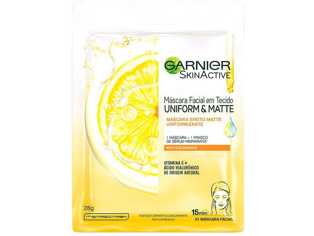 Máscara Facial Vitamina C Garnier Skin - Uniform&Matte 28g