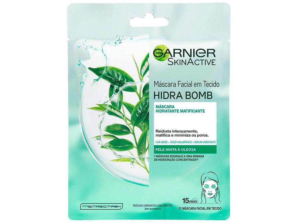 Máscara Facial Matte Garnier Skin Chá Verde - Hidra Bomb 28g