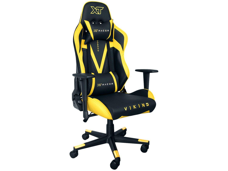 Cadeira Gamer XT Racer Reclinável Preta e Amarela - Viking Series XTR-011