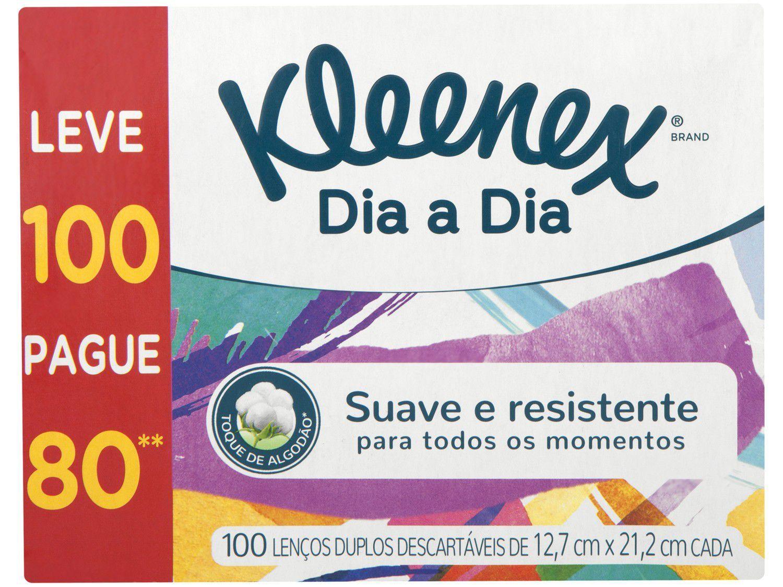 Lenço de Papel Kleenex Dia a Dia 100 Unidades - Folha Dupla
