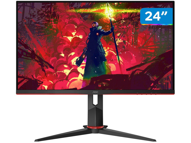 "Monitor Gamer AOC G2 Hero 24"" LED Widescreen - Full HD HDMI VGA IPS 144Hz 1ms"