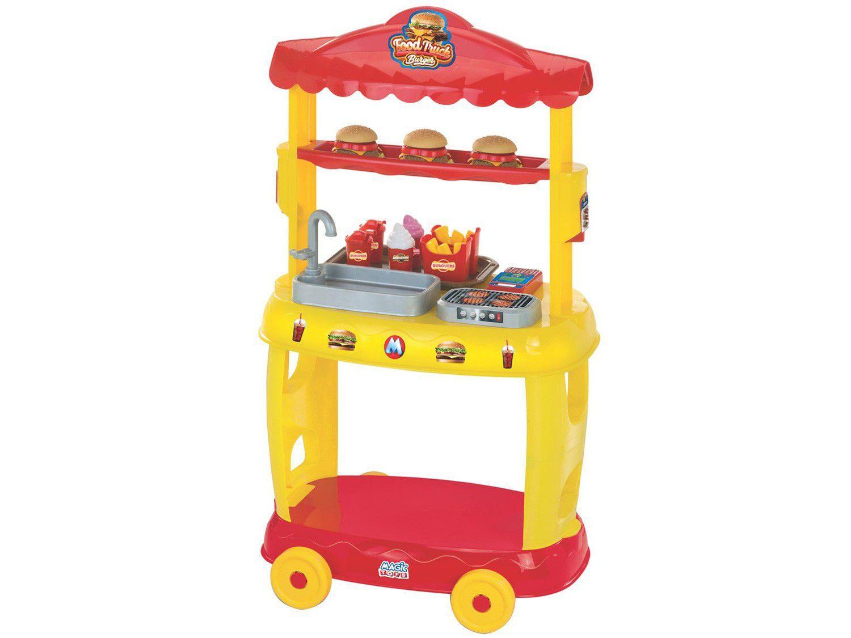 Tendinha Burguers Food Truck 8080 Magic Toys - 16 Peças