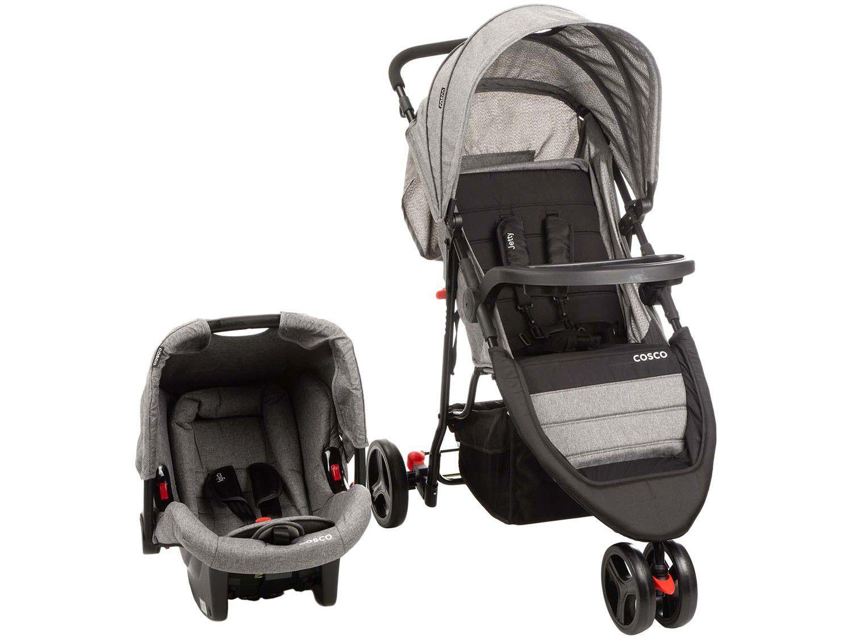 Carrinho de Bebê com Bebê Conforto Cosco - Travel System Jetty 3 Rodas 0 a 15kg