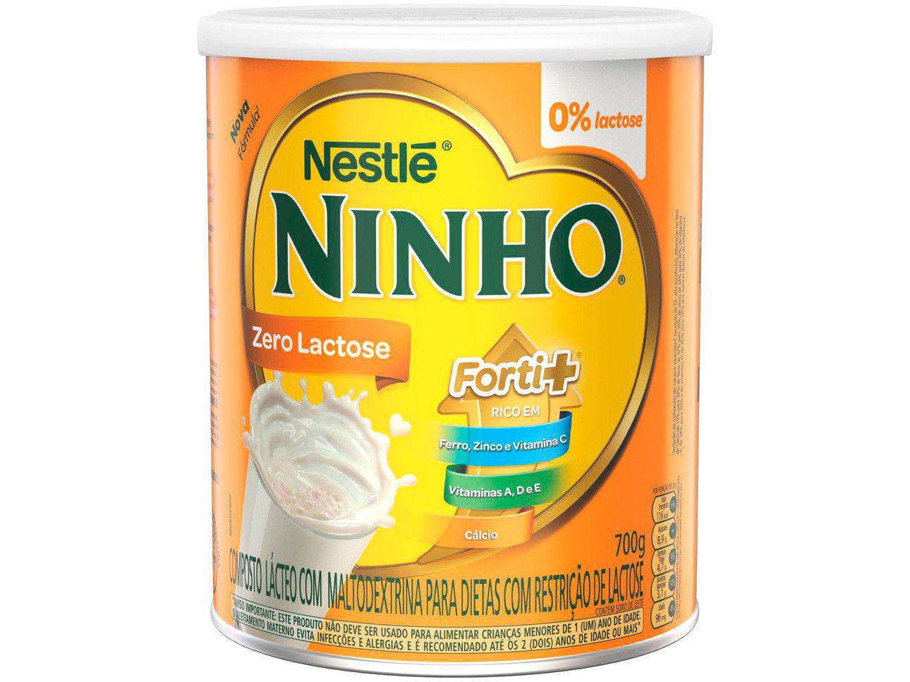 Leite em Pó Sem Lactose Ninho Forti+ - 700g