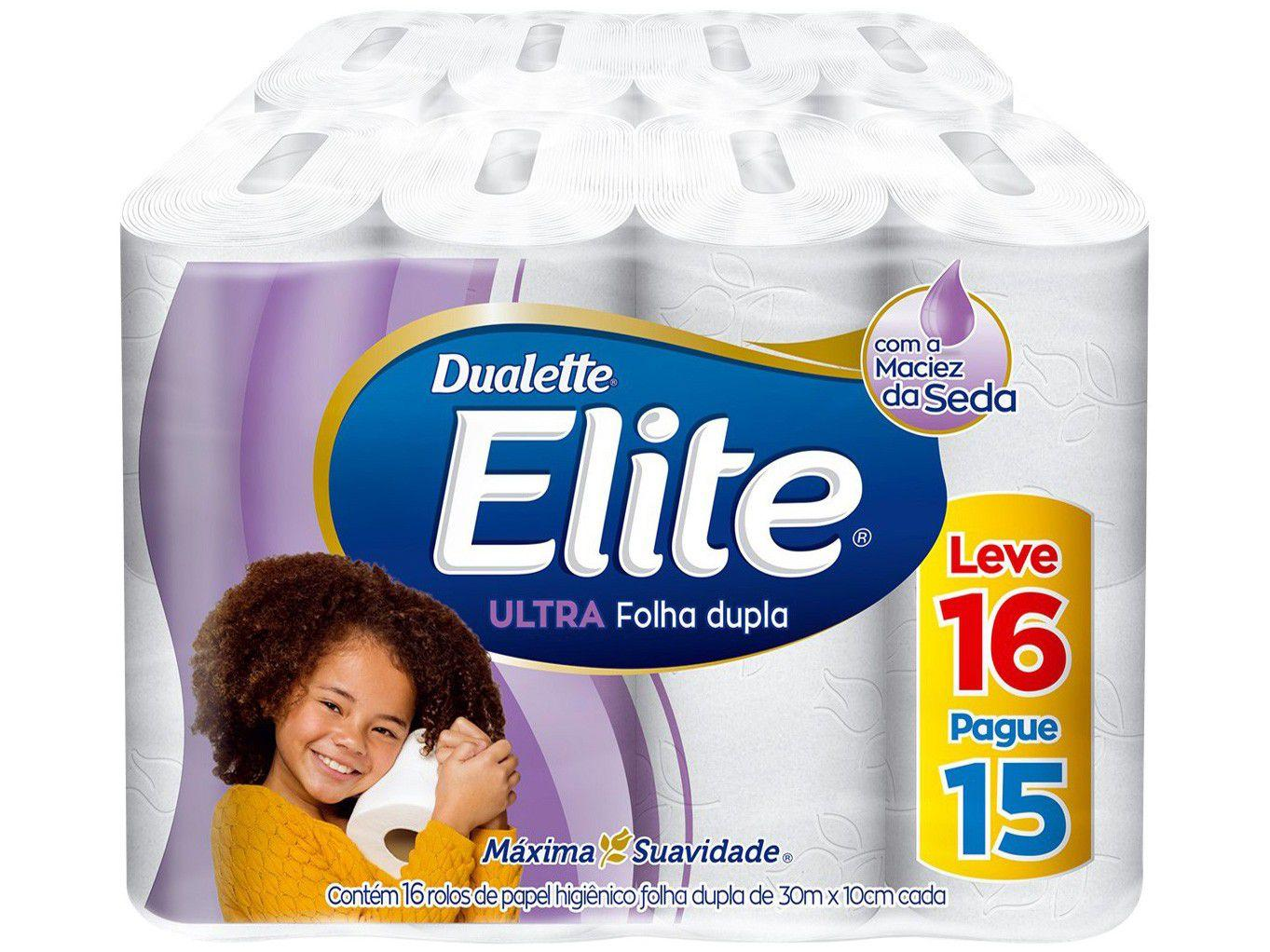 Papel Higiênico Folha Dupla Elite Ultra - 16 Rolos 30m