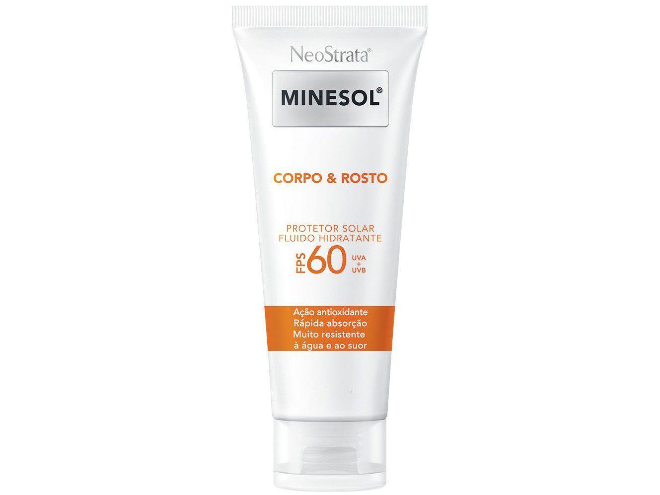 Protetor Solar Corporal e Facial Neostrata Minesol - FPS 60 Corpo & Rosto 200ml