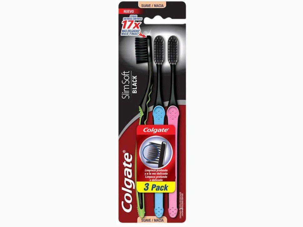 Escova de Dente Colgate Slim Soft - 3 Unidades