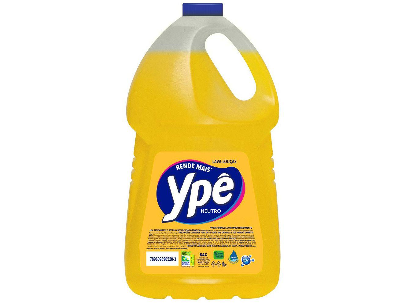 Detergente Líquido Lava-Louças Ypê Neutro Clear - 5L