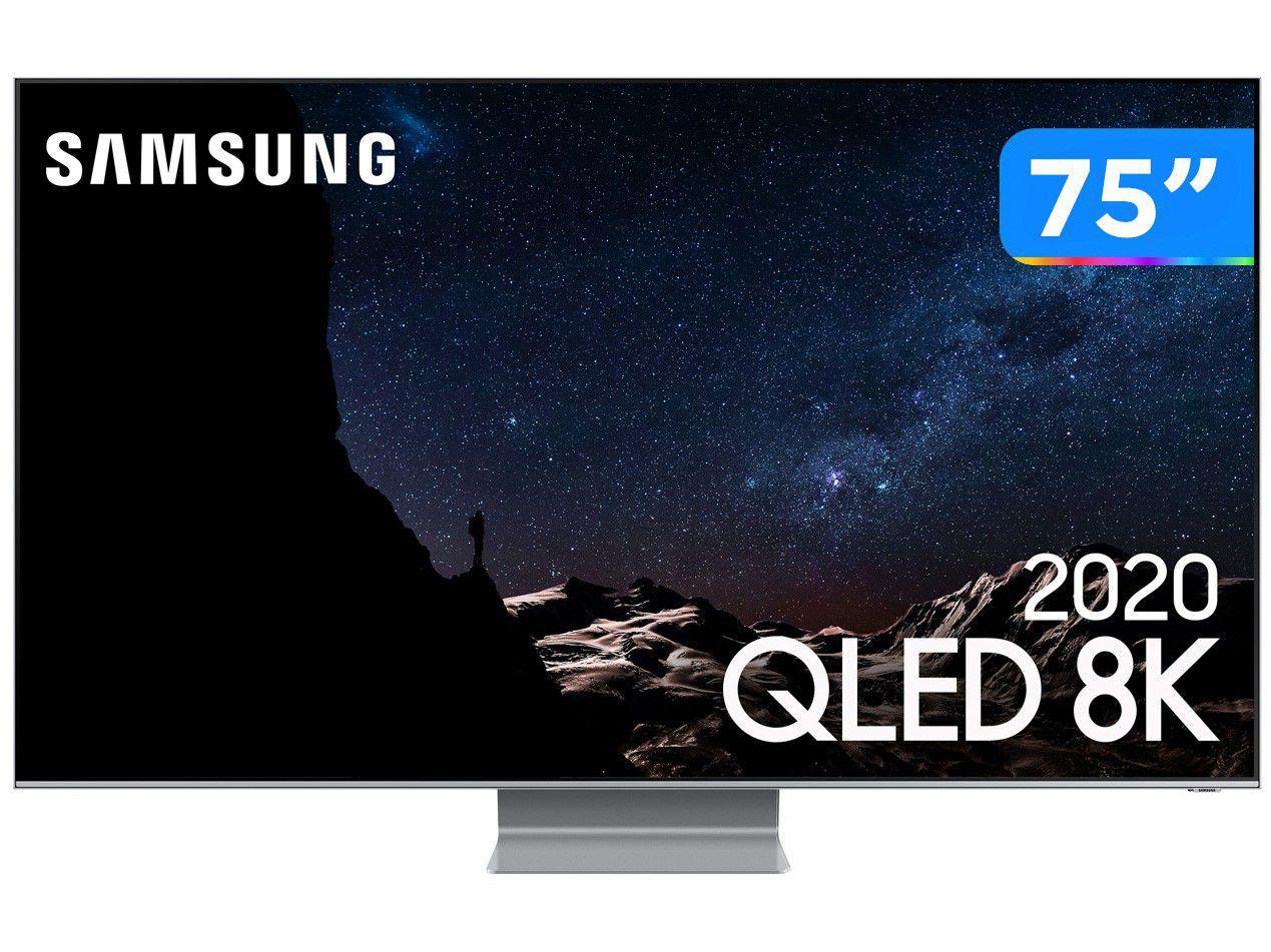 """Smart TV 8K QLED 75"""" Samsung 75Q800TA - Wi-Fi Bluetooth HDR 4 HDMI 2 USB"""