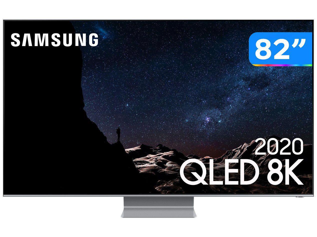 """Smart TV 8K QLED 82"""" Samsung 82Q800TA - Wi-Fi Bluetooth HDR 4 HDMI 2 USB"""