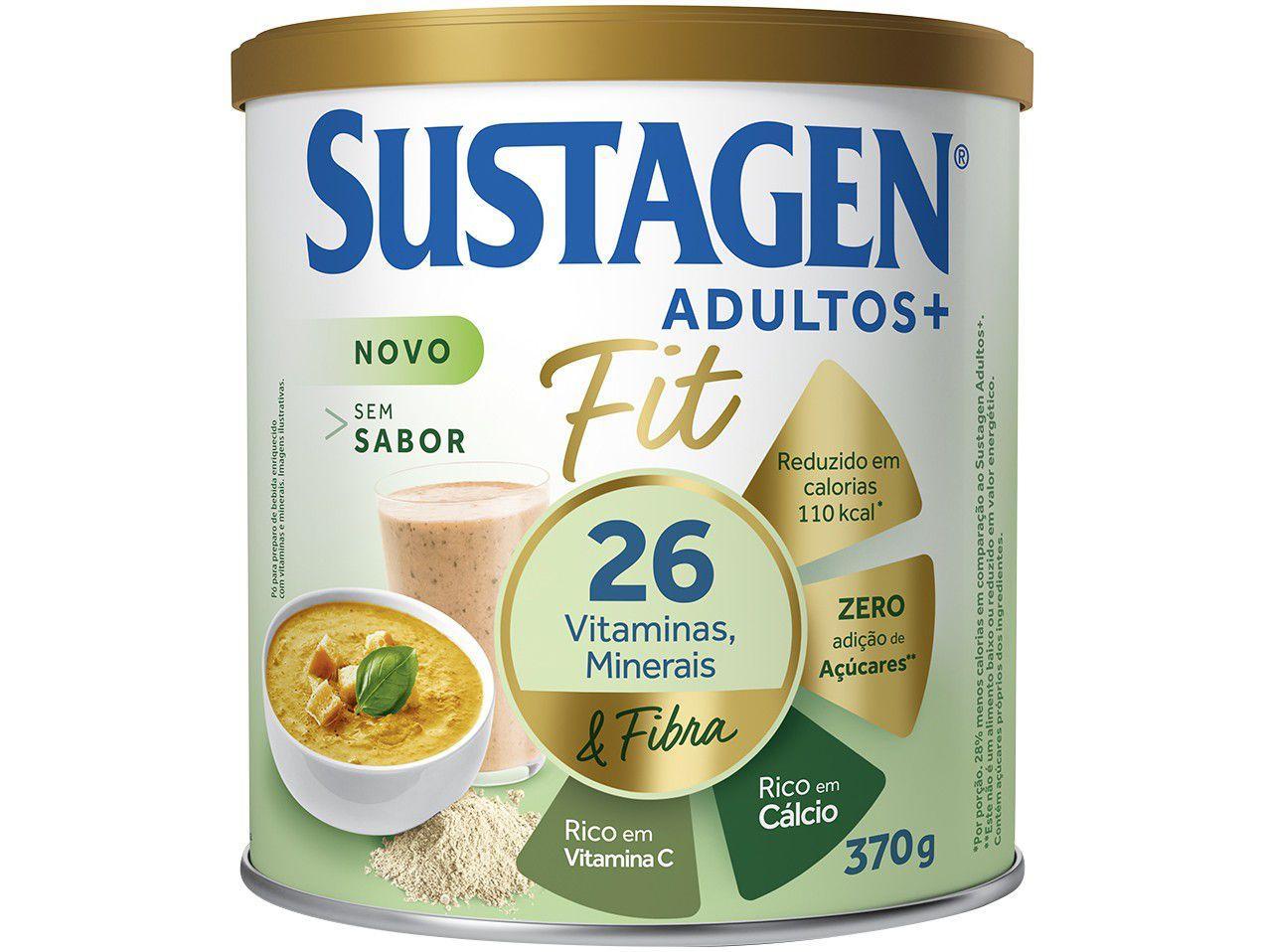 Complemento Alimentar sem Sabor Adultos+ - Sustagen Fit 370g