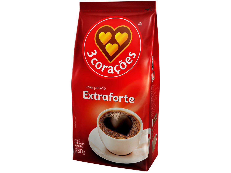 Café Torrado e Moído 3 Corações Extra Forte Pacote - 250g