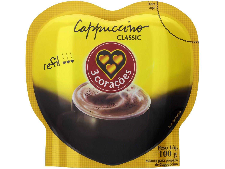 Cappuccino Classic 3 Corações Refil 100g