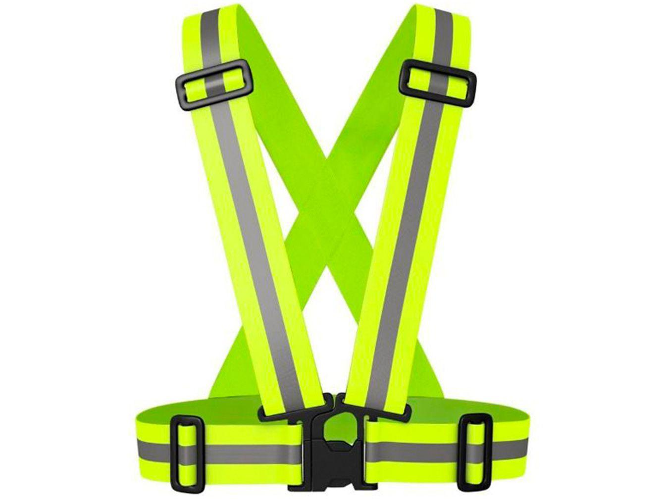 Colete Refletivo para Ciclista Tipo X Verde - Acte Sports A78