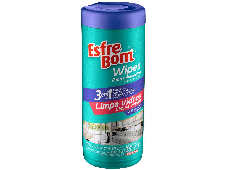 Pano Umedecido EsfreBom Wipes Limpa Vidros - Bettanin 35 Unidades