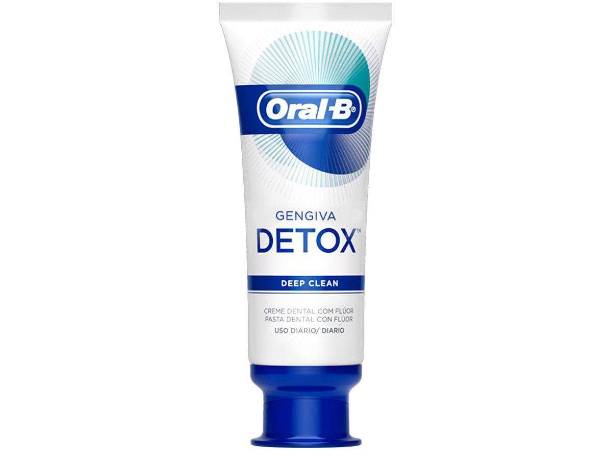 Creme Dental com Flúor Oral-B Deep Clean - Gengiva Detox 102g
