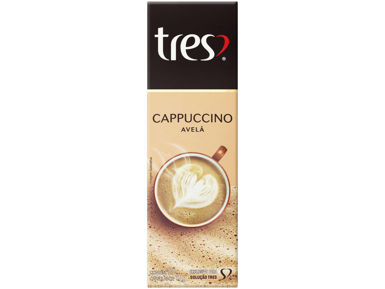 Cápsula Cappuccino Avelã TRES 3 Corações - 10 Cápsulas