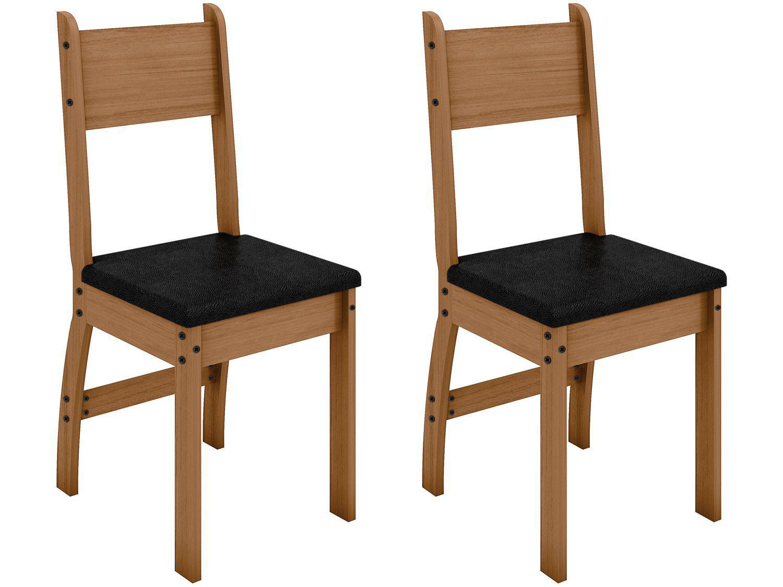 Jogo de Cadeiras para Cozinha Estofada - Poliman Móveis Milano M02070 2 Peças