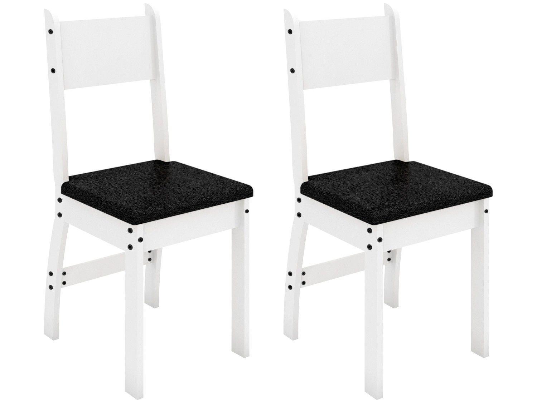 Jogo de Cadeiras para Cozinha Estofada - Poliman Móveis Milano M01050 2 Peças