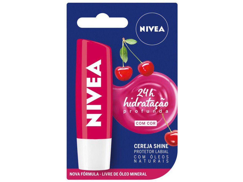 Protetor Labial Nivea Cereja Shine - Hidratação Profunda 4,8g