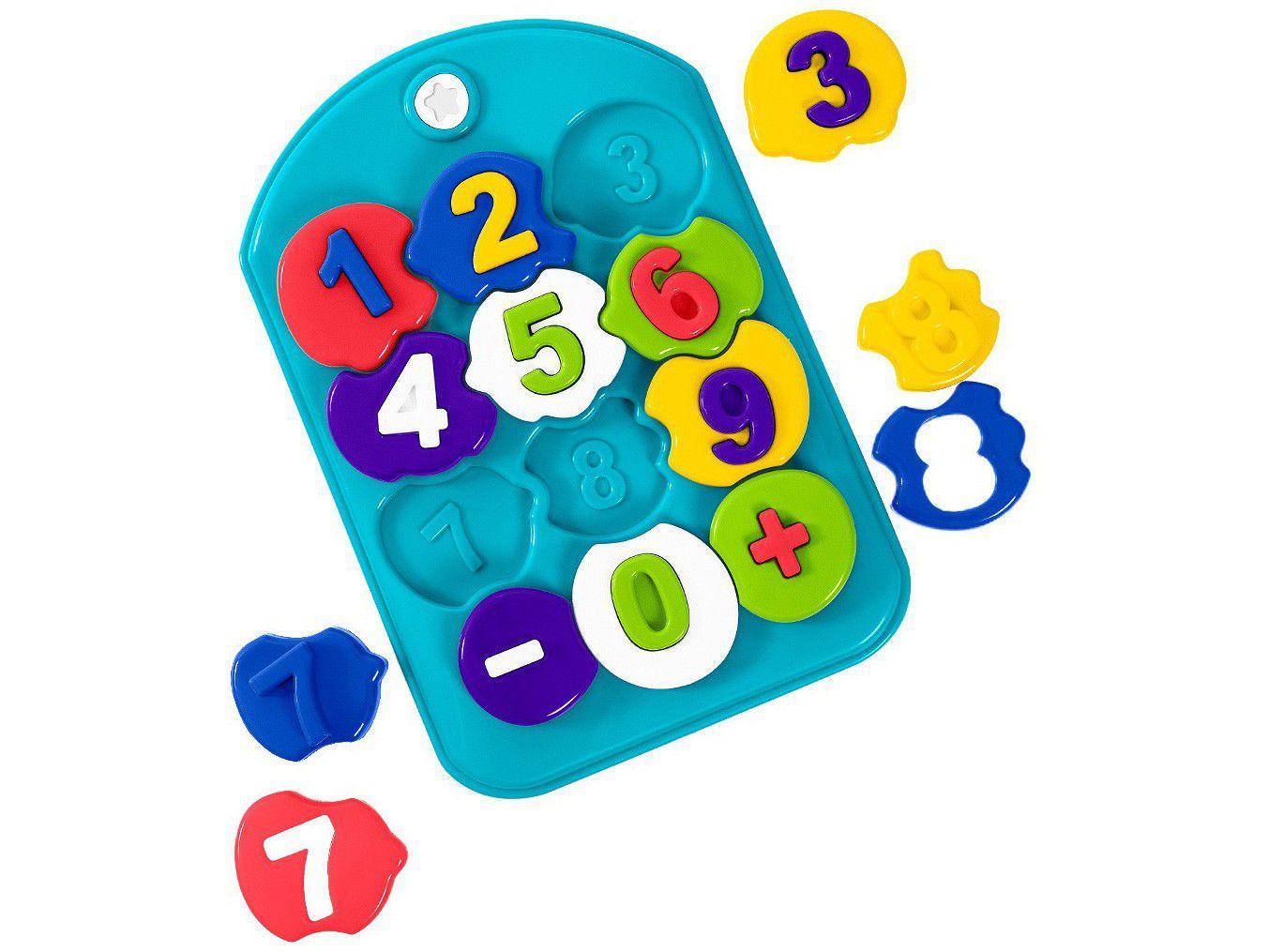 Brinquedo de Encaixar Puzzle Mania Números - Ta Te Ti 25 Peças