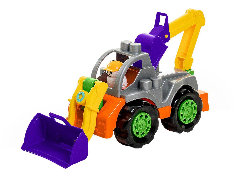 Trator de Brinquedo Rodadinhos Blocks Trator - Roda Livre Ta Te Ti