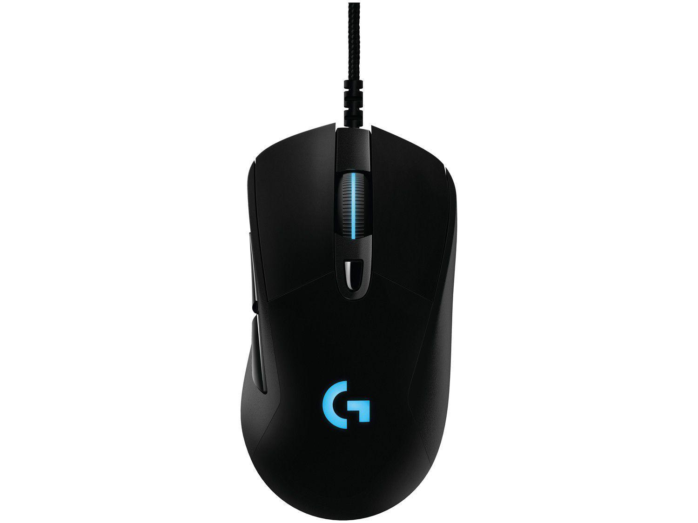 Mouse Gamer RGB Logitech Laser 16000DPI 6 Botões - G403 HERO Preto