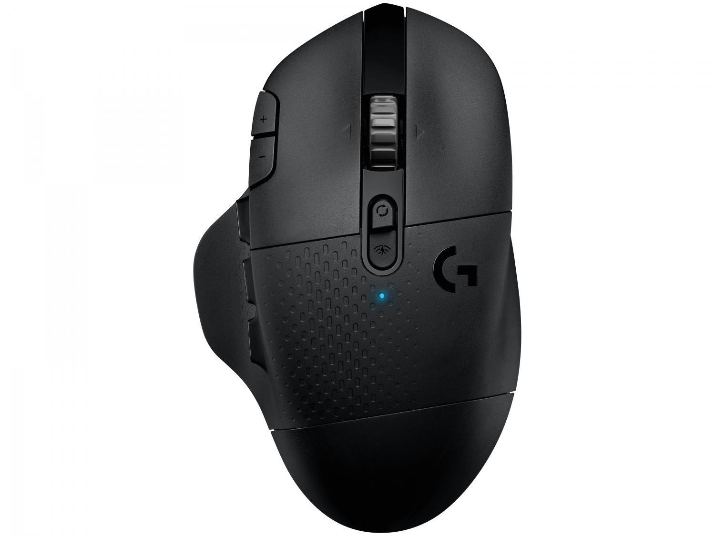 Mouse Gamer sem Fio Logitech Laser 16000DPI - 15 Botões G604 Preto