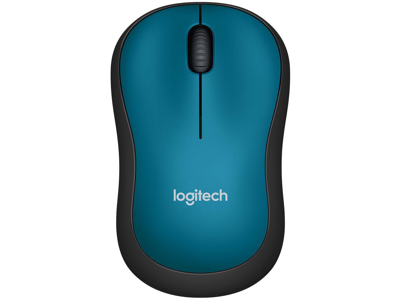 Mouse sem Fio Logitech Laser 1000DPI M185 Azul