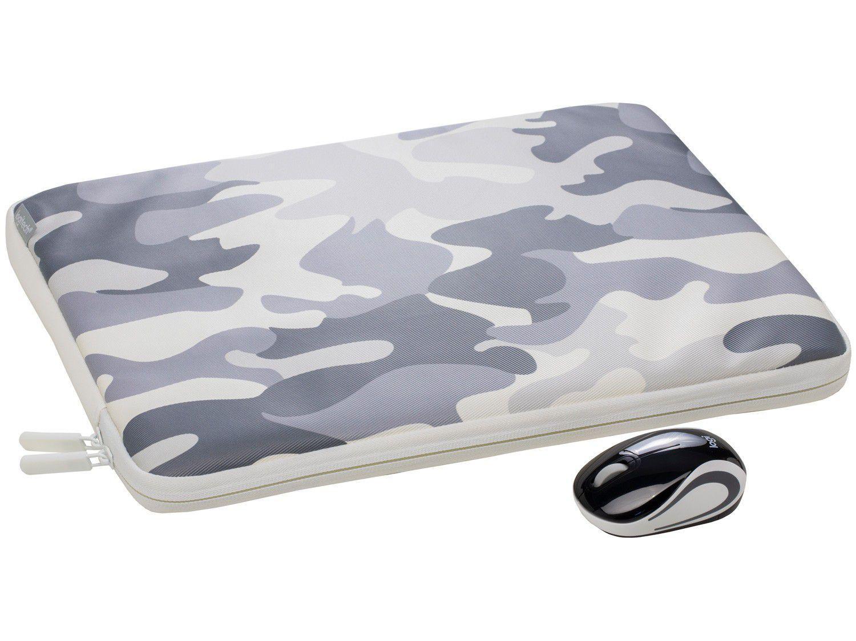 """Mini Mouse sem Fio Logitech Laser 1000DPI - M187 com Capa para Notebook 14"""""""