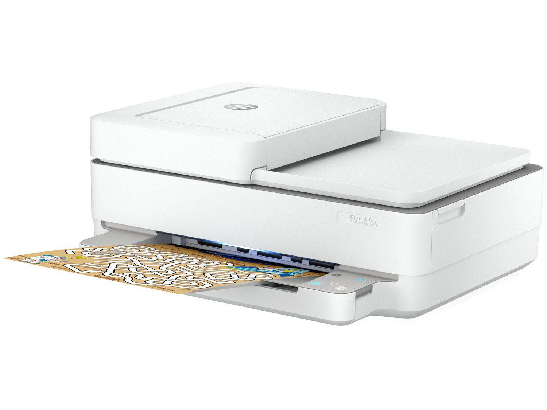 Impressora Multifuncional HP DeskJet Plus Ink - Advantage 6476 Jato de Tinta Colorida Wi-Fi USB