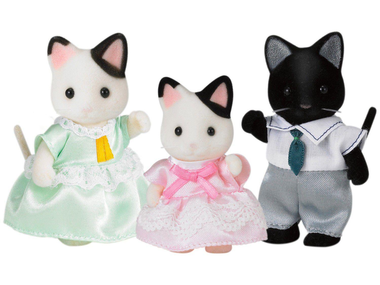 Sylvanian Families Família dos Gatos Malhados - Epoch Magia