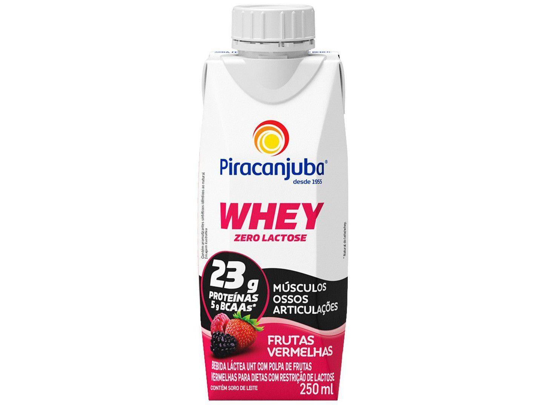 Bebida Láctea Piracanjuba Whey Frutas Vermelhas - Zero Lactose 250ml