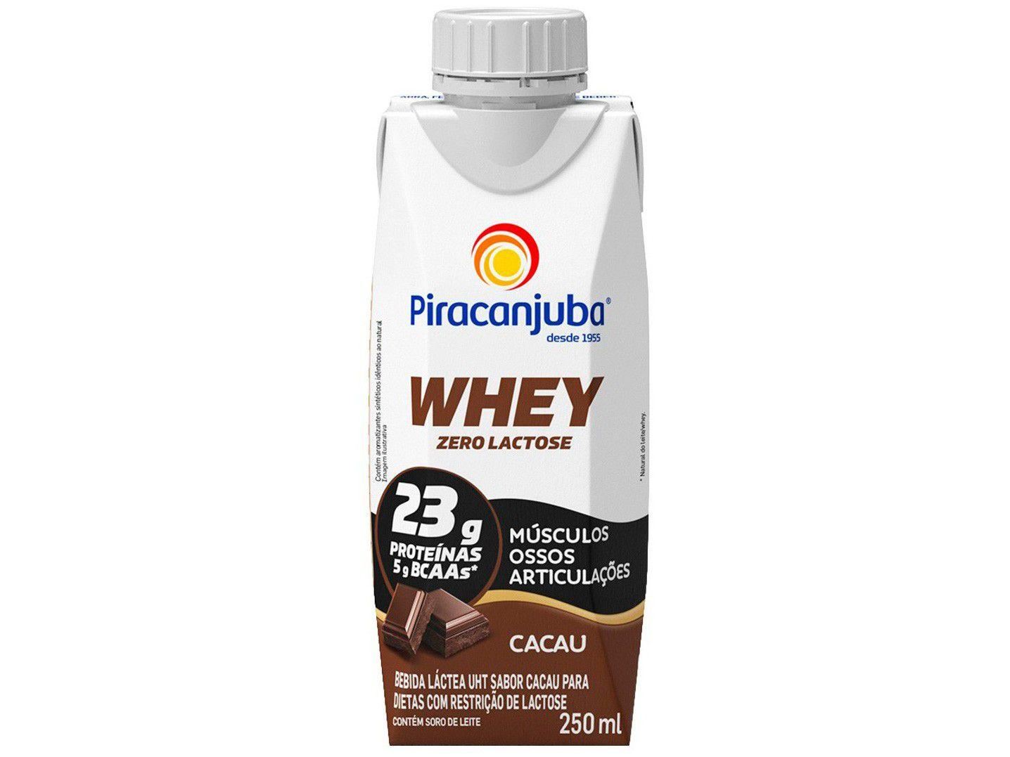 Bebida Láctea Piracanjuba Whey Cacau Zero Lactose - 250ml