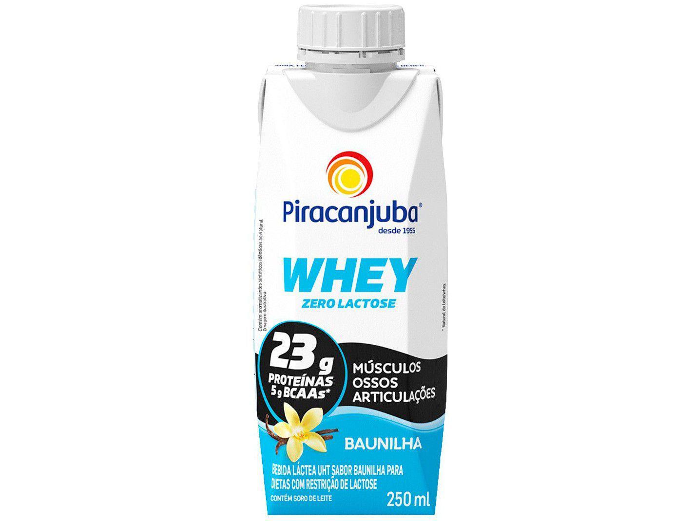 Bebida Láctea Piracanjuba Whey Baunilha - Zero Lactose 250ml