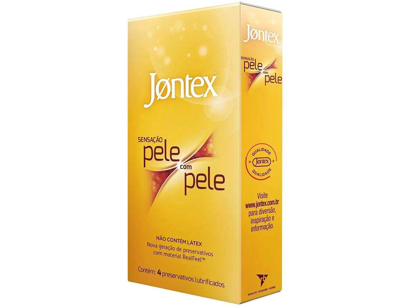 Preservativo Jontex Sensação Pele com Pele - Amarela 4 Unidades