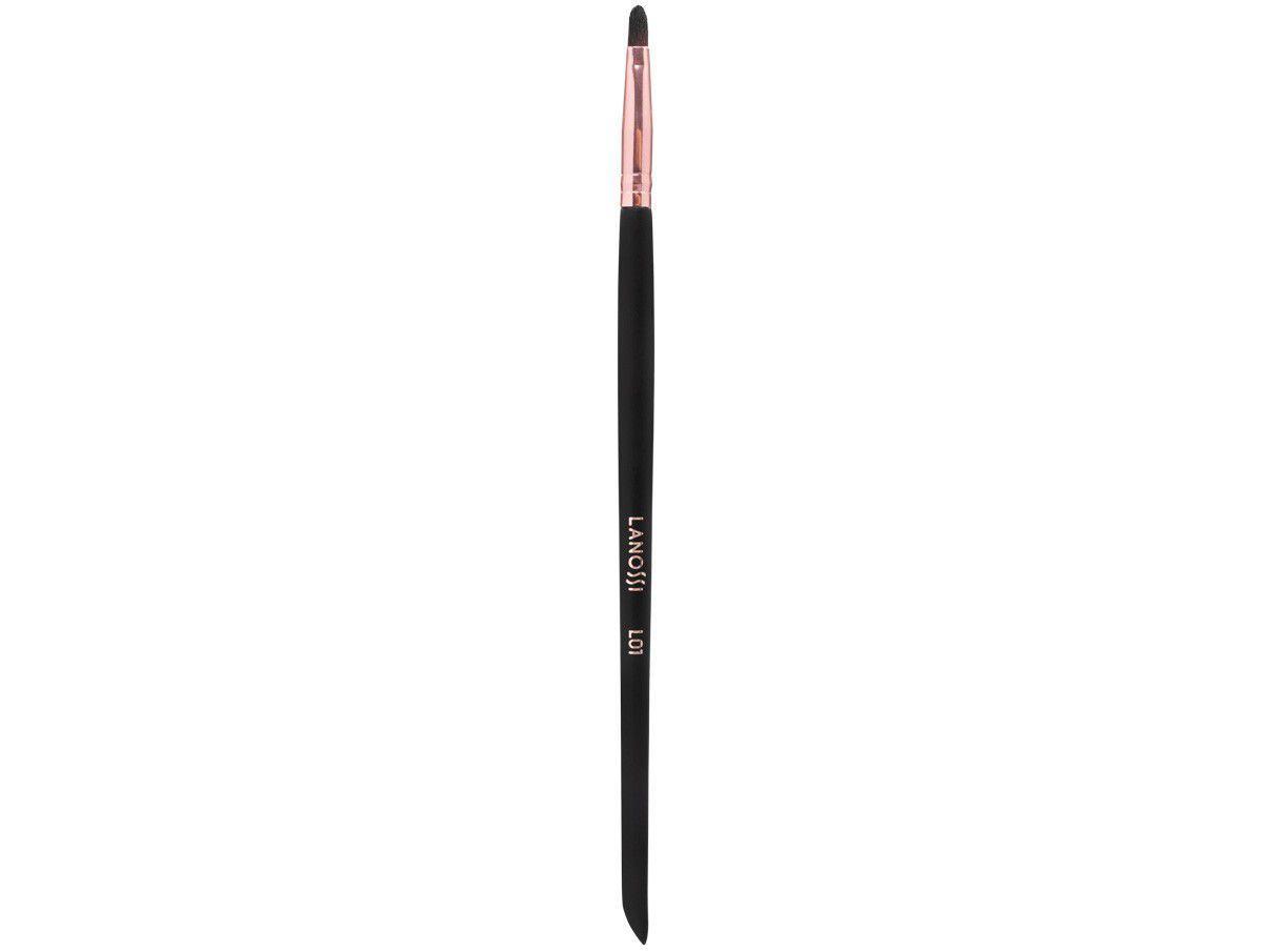 Pincel de Maquiagem para Lábios Lanossi Rose Black - Lábios L01