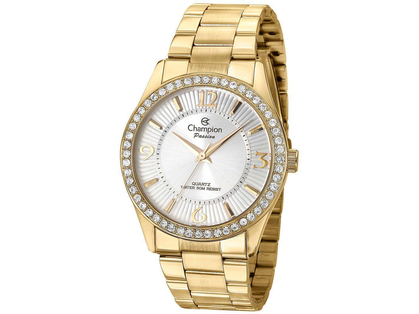 Relógio Feminino Champion Analógico CN29365B - Dourado com Acessório